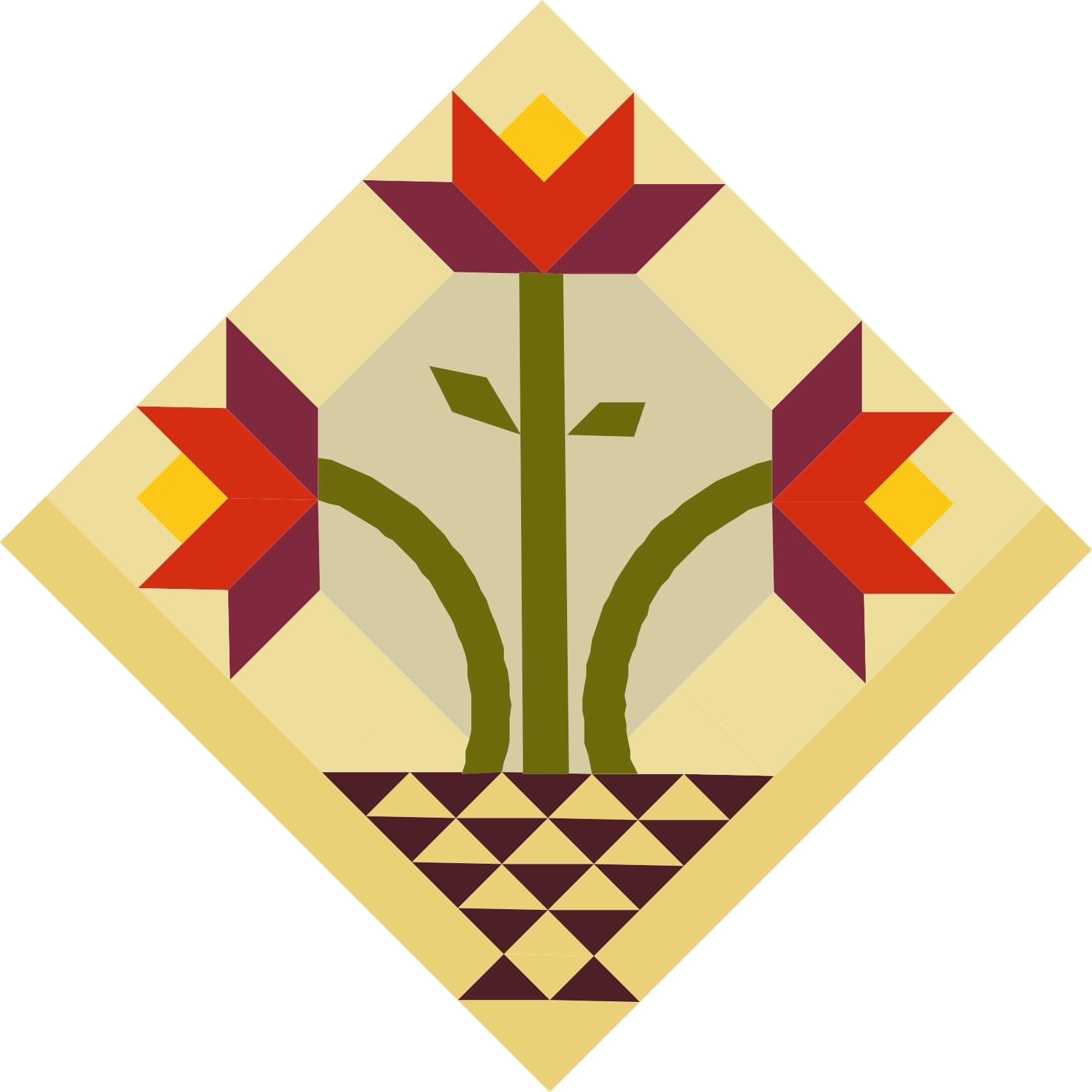 image of quilt block called Planting the Seeds of Knowledge